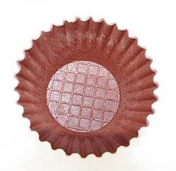 Waflowe jadalne papilotki foremki na muffinki brązowe 38 szt