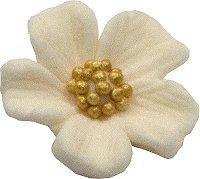 Niezapominajka kwiaty cukrowe 10szt ecru