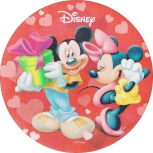 Kardasis - opłatek na tort okrągły Mickey Mouse Urodziny