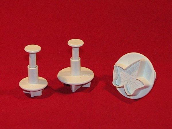 Hokus - Listki Bluszczu - komplet 3 wykrawaczek z wyrzutkami