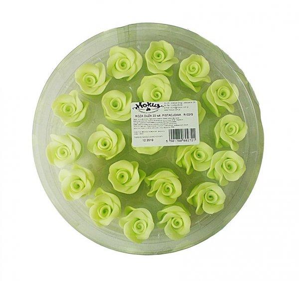 Róże cukrowe DUŻE 22szt seledynowe