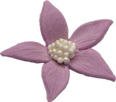 Płomyk kwiatki cukrowe 10szt wrzosowe