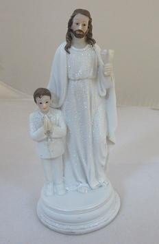 Jezus stojący z chłopcem