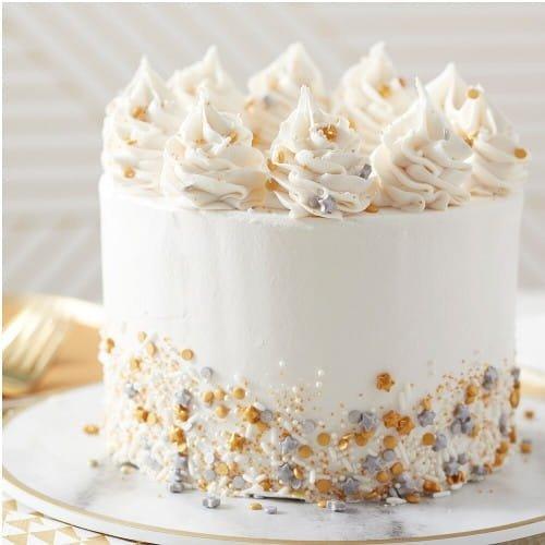 Posypka cukrowa na tort GWIAZDKI srebrne 56g - Wilton
