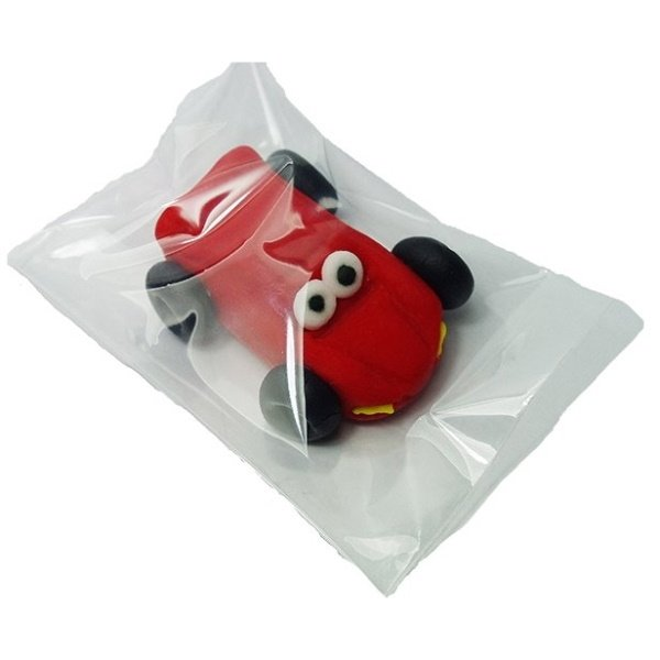 Figurka cukrowa na tort AUTKO małe czerwone 1szt