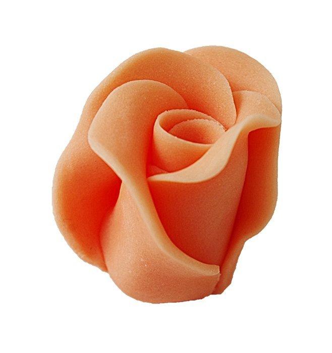 Róże cukrowe DUŻE 22szt łososiowe