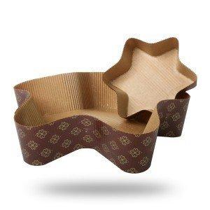 Forma papierowa do pieczenia ciasta GWIAZDKA mała - 5szt