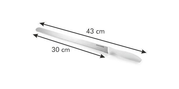 Nóż do krojenia ciasta biszkoptu długi 30cm - Tescoma