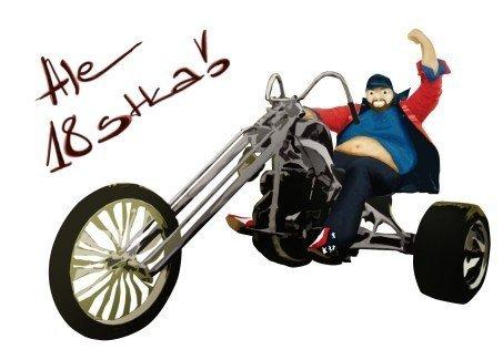 Hokus - Chopper Man opłatek na tort okrągły 18-tka