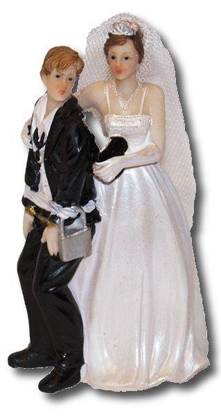 Dekoracja tortu ślubnego Figurka Uprowadzony Pan Młody ver. B