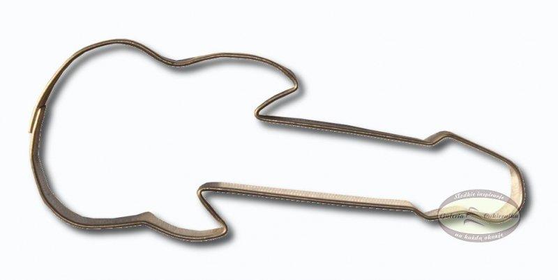 Wykrawacz FOREMKA do ciastek pierników GITARA ELEKTRYCZNA 7cm