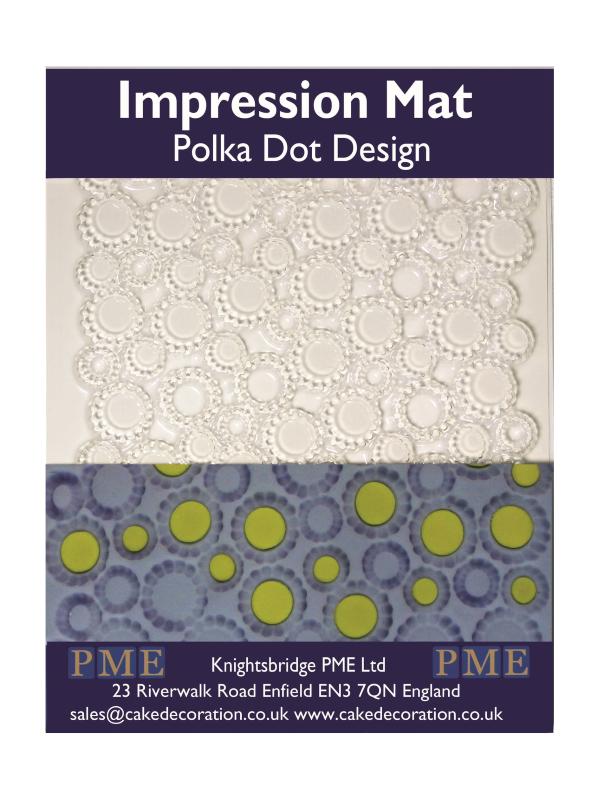 Mata strukturalna do masy cukrowej wzór KROPKI polka dot - PME