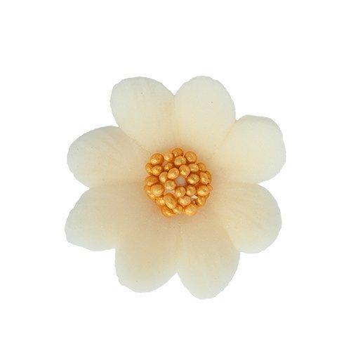 Kwiatki cukrowe ECRU na tort MIŁEK 10szt