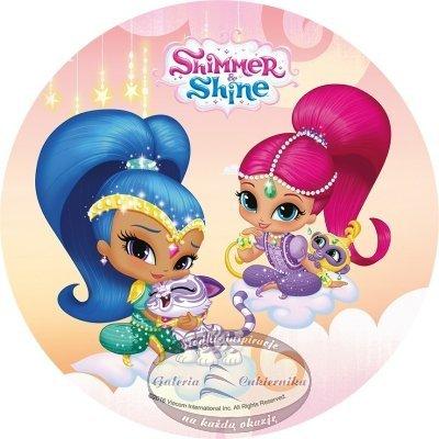 Modecor - Opłatek na tort Shimmer i Shine D