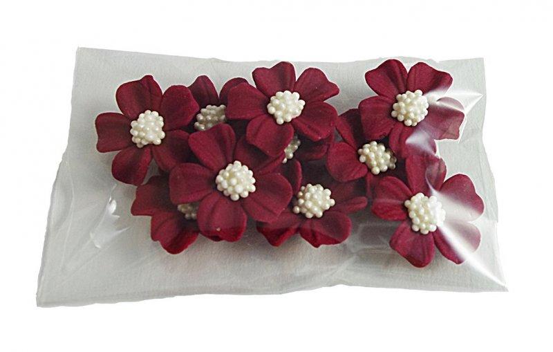 Niezapominajka kwiaty cukrowe 10szt bordowe