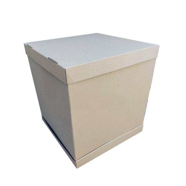 Pudełko karton na wysoki tort piętrowy 41x41x45 cm