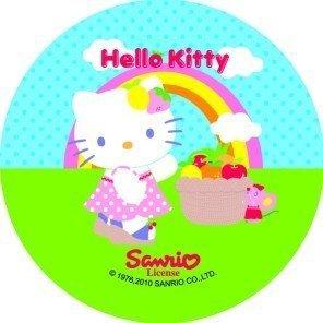 Modecor opłatek na tort Hello Kitty Tęcza 14,5cm