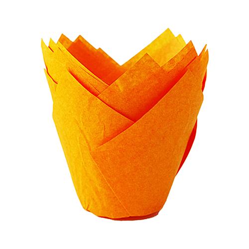 Papilotki na muffinki TULIPAN (160/50) pomarańczowy 50 szt