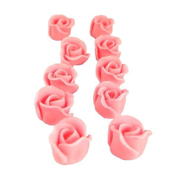 Cukrowe MINI RÓŻE różyczki różowe 10szt