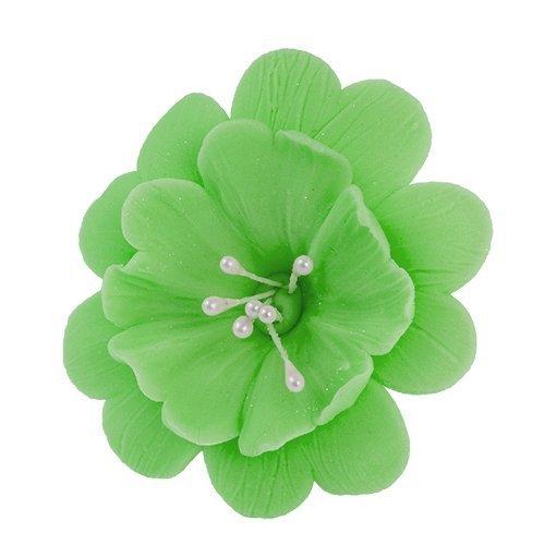 FUKSJA kwiat cukrowy na tort 6,5cm ZIELONY 8szt