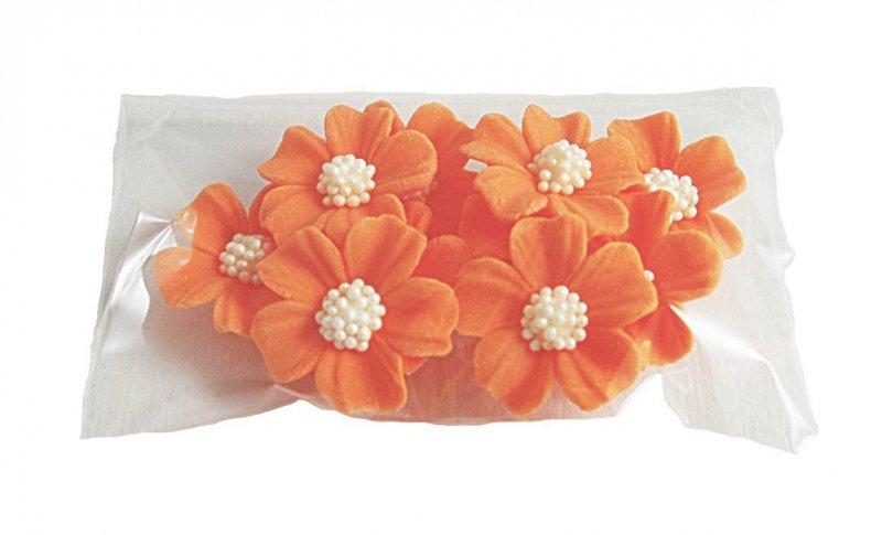 Niezapominajka kwiaty cukrowe 10szt pomarańczowe