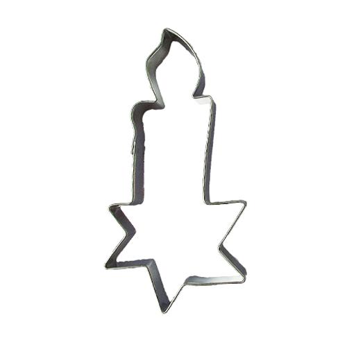 Wykrawacz FOREMKA do ciastek pierników ŚWIECZKA z gwiazdką 8,5cm