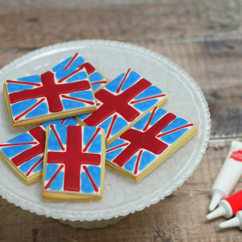 Pisak żelowy do dekoracji tortu ciastek 19g CZERWONY