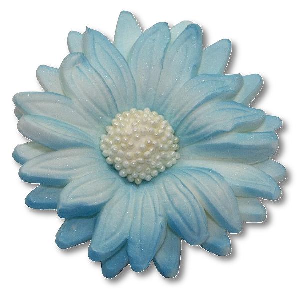 Kwiaty cukrowe MARGARETKA 10szt niebieskie