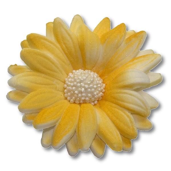 Kwiaty cukrowe MARGARETKA 10szt żółte