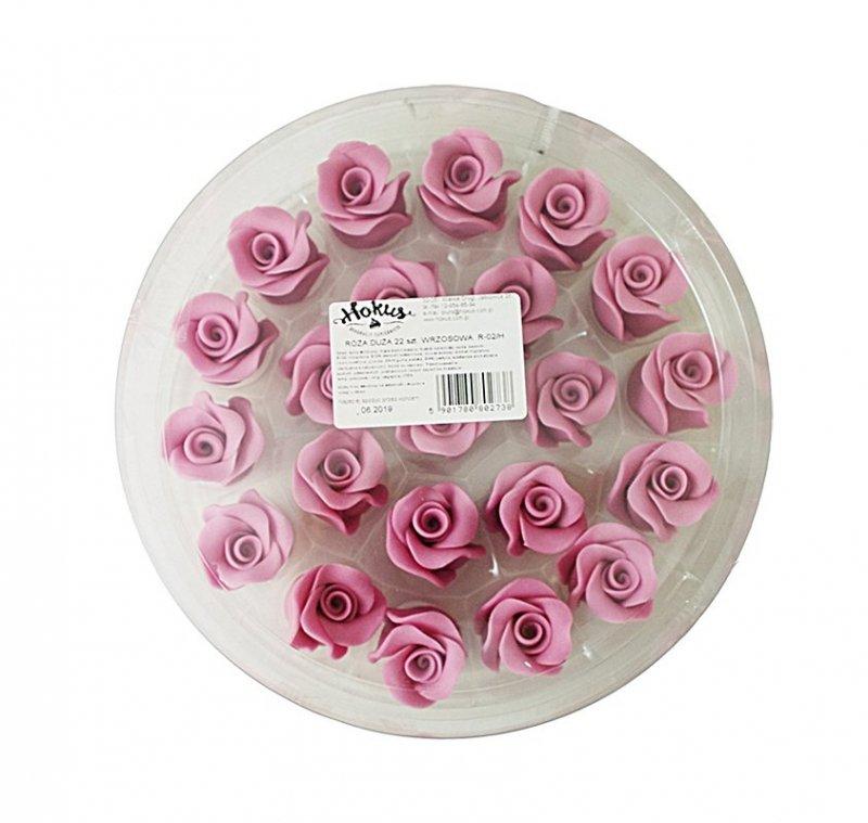 Róże cukrowe DUŻE 22szt wrzosowe