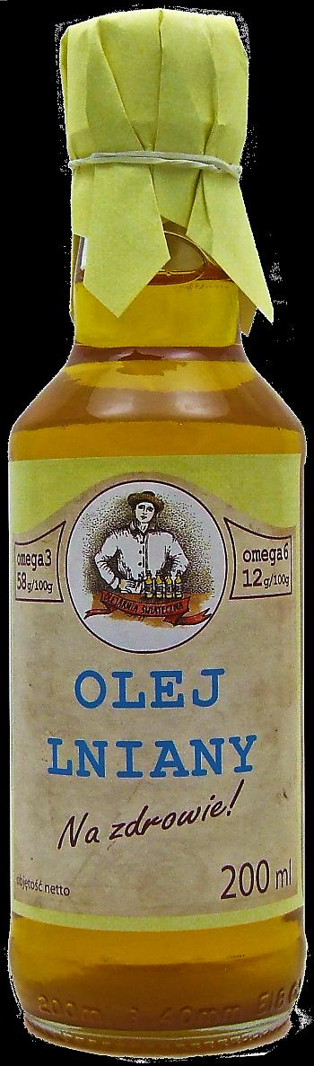 olej lniany 200 ml Na zdrowie! szkło