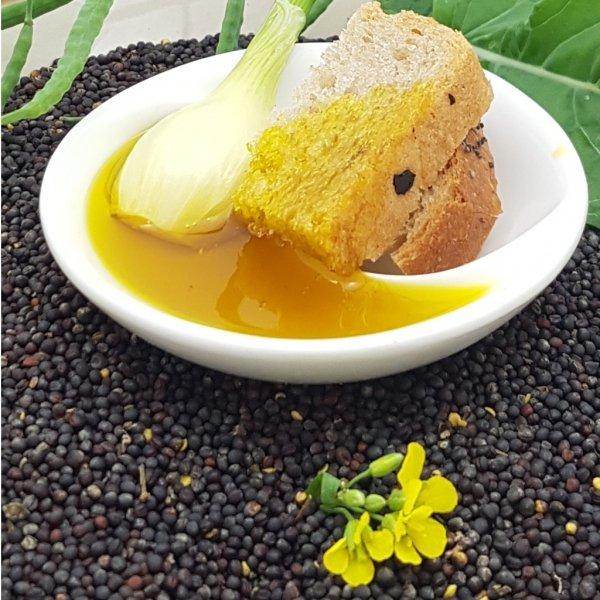 Olej świąteczny roztoczański 500 ml  bity tradycyjnie - propozycja podania.