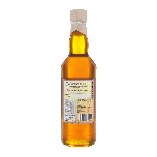 Olej z rydzyka 500 ml bity tradycyjnie - tył.