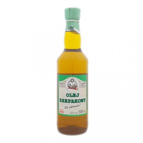 Olej rzepakowy 500 ml Na zdrowie! - przód.