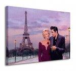 Obraz do salonu - Paris Sunset - 80x60cm