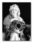 Obraz na płótnie - Marilyn Monroe (Lute) - 60x80 cm