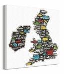 Motorway Map - Obraz na płótnie