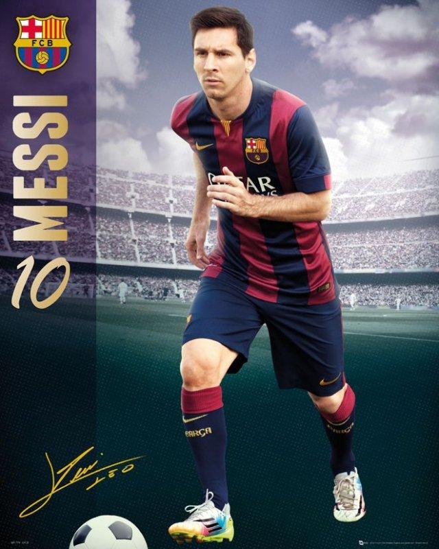 Barcelona Lionel Messi 1415 Plakat