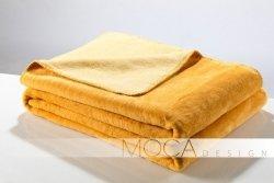 Koc - Miodowo Żółty - 150x200 cm - Doubleface yellow