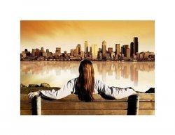 City View Sunrise - reprodukcja
