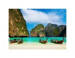 Tropical beach, Maya Bay, Thailand - reprodukcja
