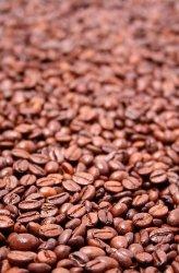 Fototapeta do kuchni - Ogniste ziarna kawy - 115x175 cm