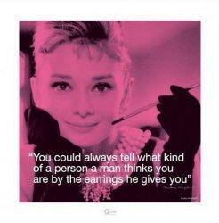 Audrey Hepburn (Życiowe cytaty)  - reprodukcja