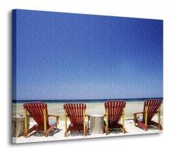 Obraz na płótnie- Tropikalna plaża 120x90 cm