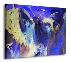 Obraz na ścianę - Niebieska abstrakcja - 120x90 cm