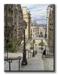 Obraz do salonu - Paryż, Montmartre - 90x120 cm