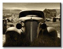 Obraz na płótnie - Stary samochód, vintage - 120x90 cm