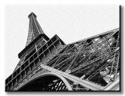 Obraz do salonu - Wieża Eiffel w Paryżu - 120x90 cm