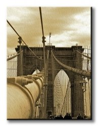 Obraz do salonu - New York, Brooklyn Bridge - 90x120 cm