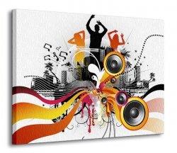 Obraz na ścianę - Electric freeflow Dance - 120x90 cm